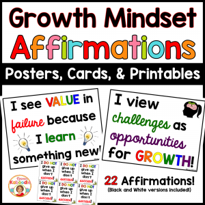 Growth Mindset Affirmations Posters and Cards