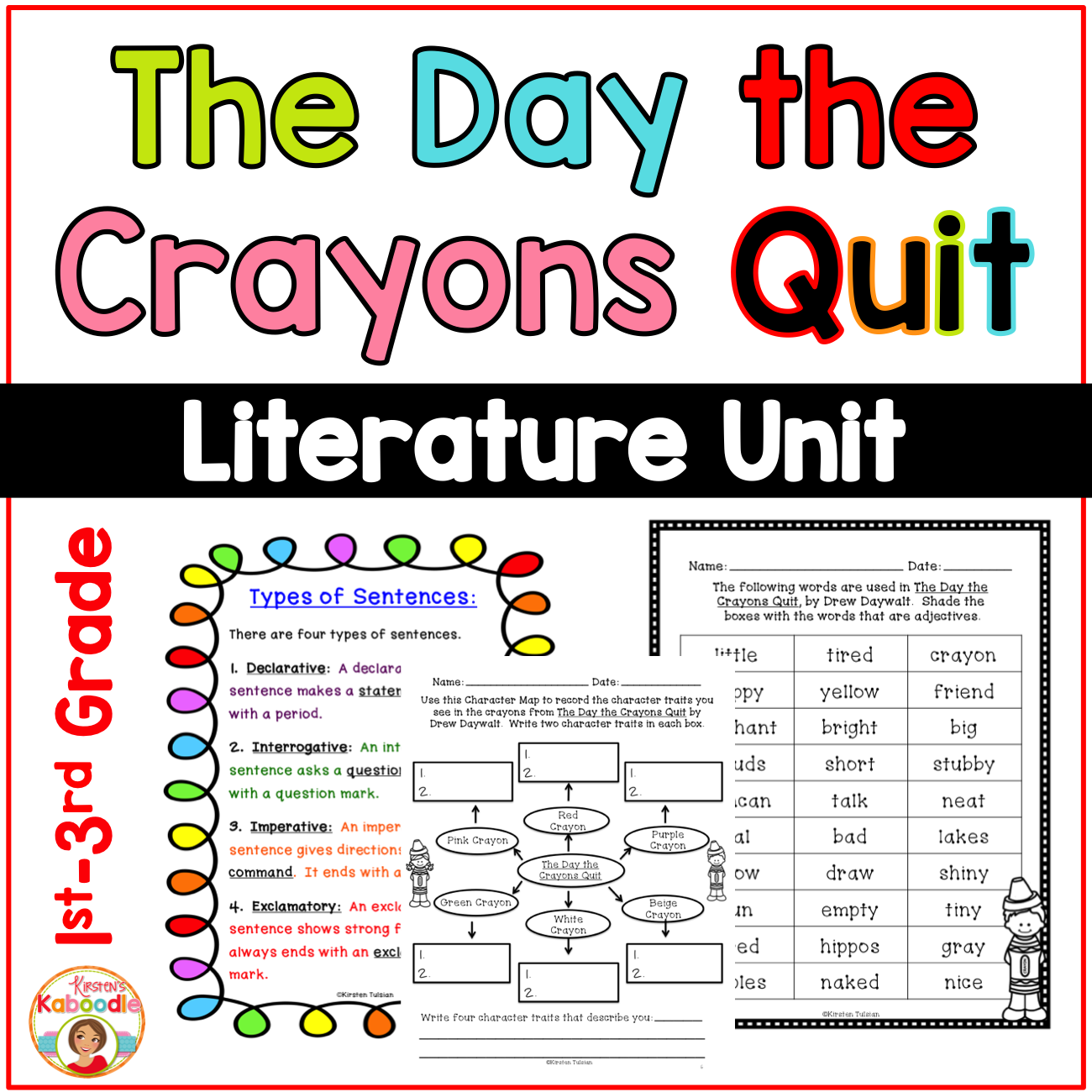 The Day the Crayons Quit Literature Activities