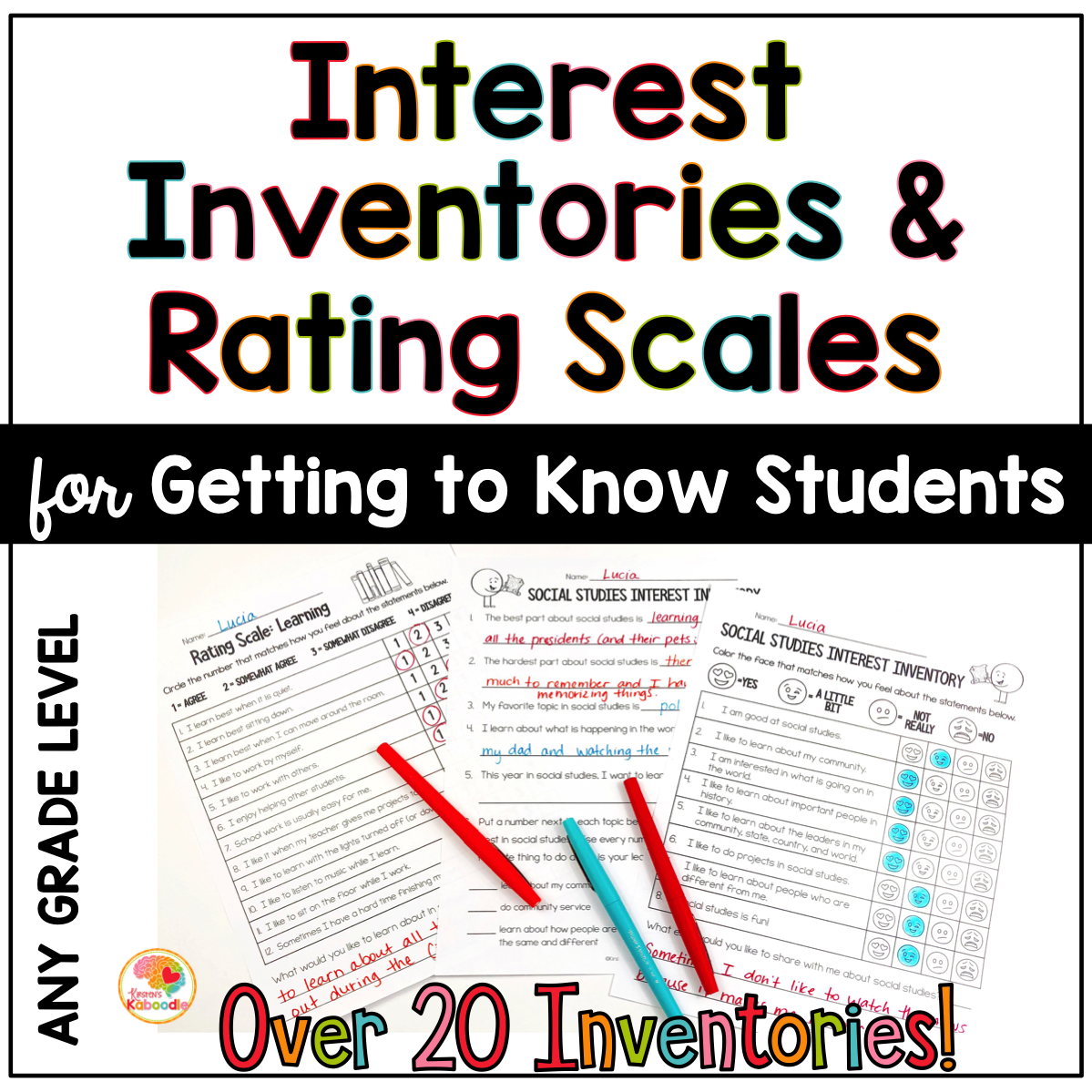 Interest Inventory and Rating Scale Activities for Elementary Students