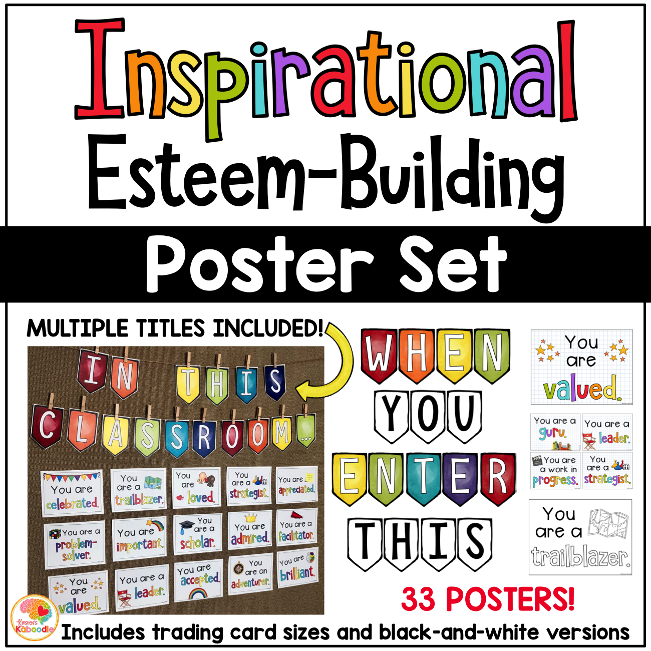 Inspirational Esteem-Building Poster Set