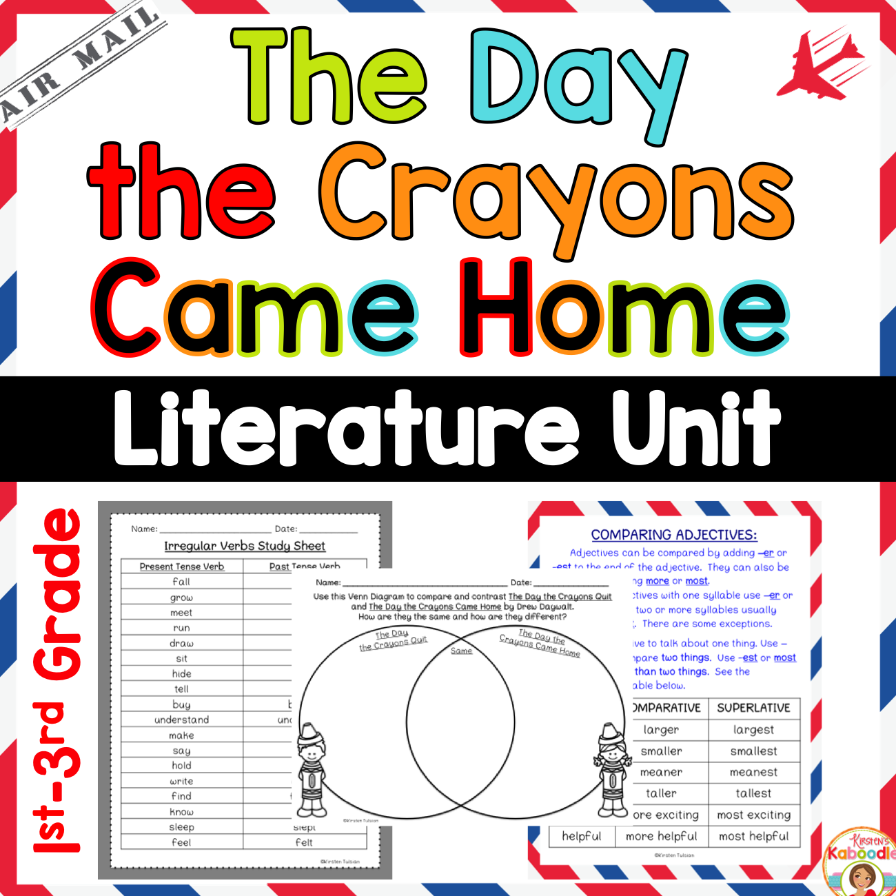 The Day the Crayons Came Home Literature Unit