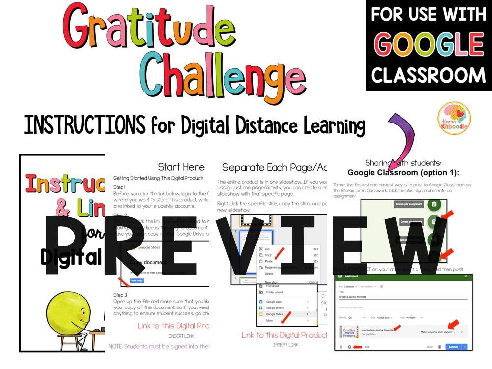 Gratitude Challenge Activities for Kids PREVIEW