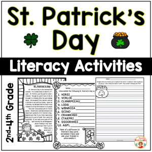 St. Patrick's Day Literacy Activities - NO PREP