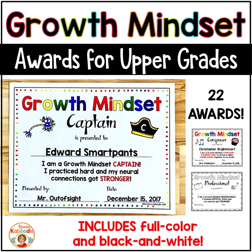 Growth Mindset Awards
