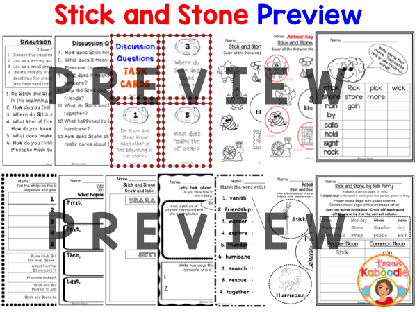 Stick and Stone Activities