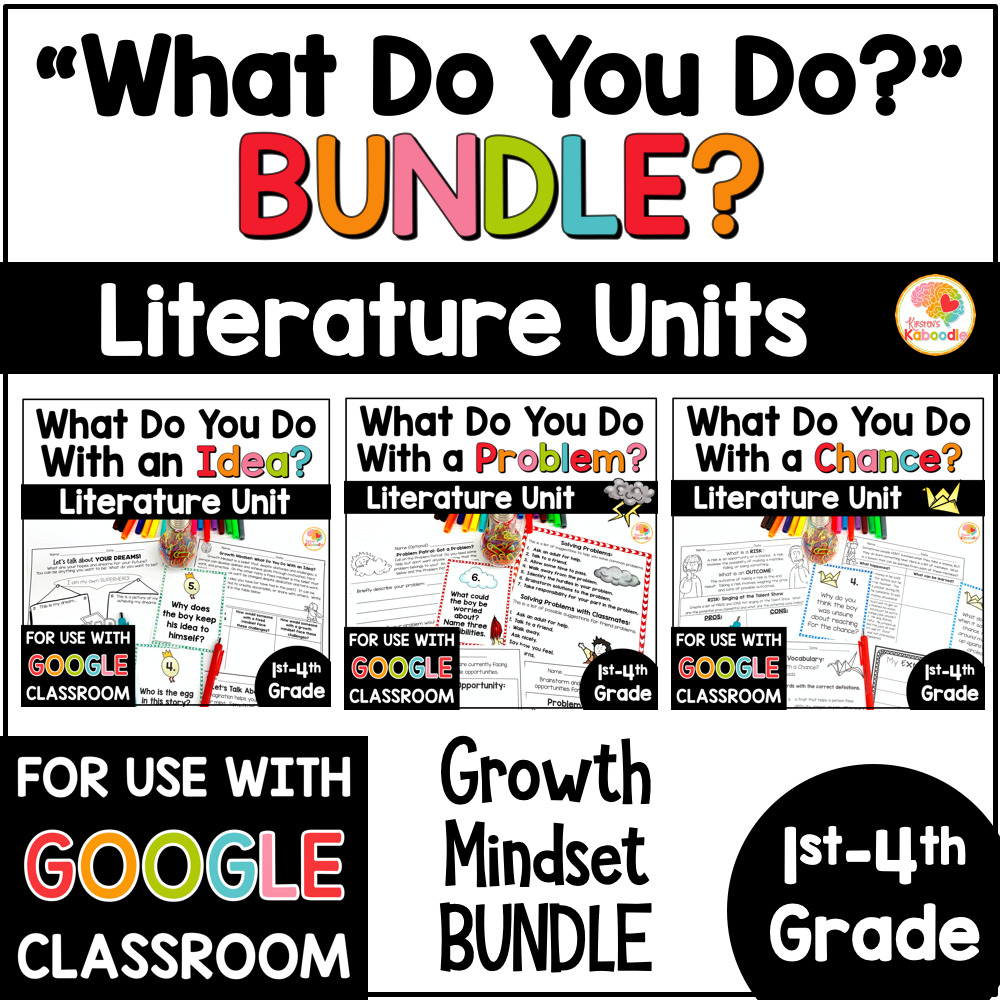 What Do You Do with a Chance, Idea, Problem Activities BUNDLE COVER