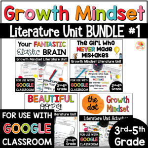 Growth Mindset Picture Book Bundle Activities COVER