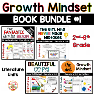 Growth Mindset Picture Book Activities BUNDLE