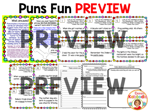 Puns Activities PREVIEW