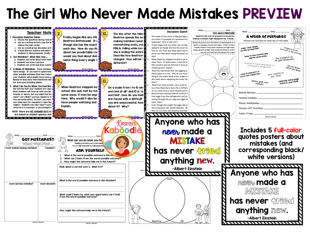 The Girl Who Never Made Mistakes PREVIEW