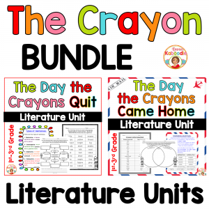 The Day the Crayons Quit Activities and The Day the Crayons Came Home Activities BUNDLE