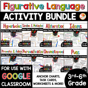 Figurative Language Activities BUNDLE COVER