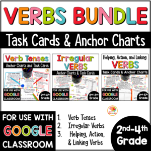 Verbs Task Cards BUNDLE COVER