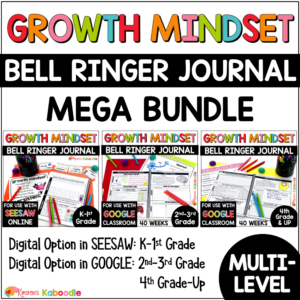 Growth Mindset Bell Ringer MEGA BUNDLE COVER