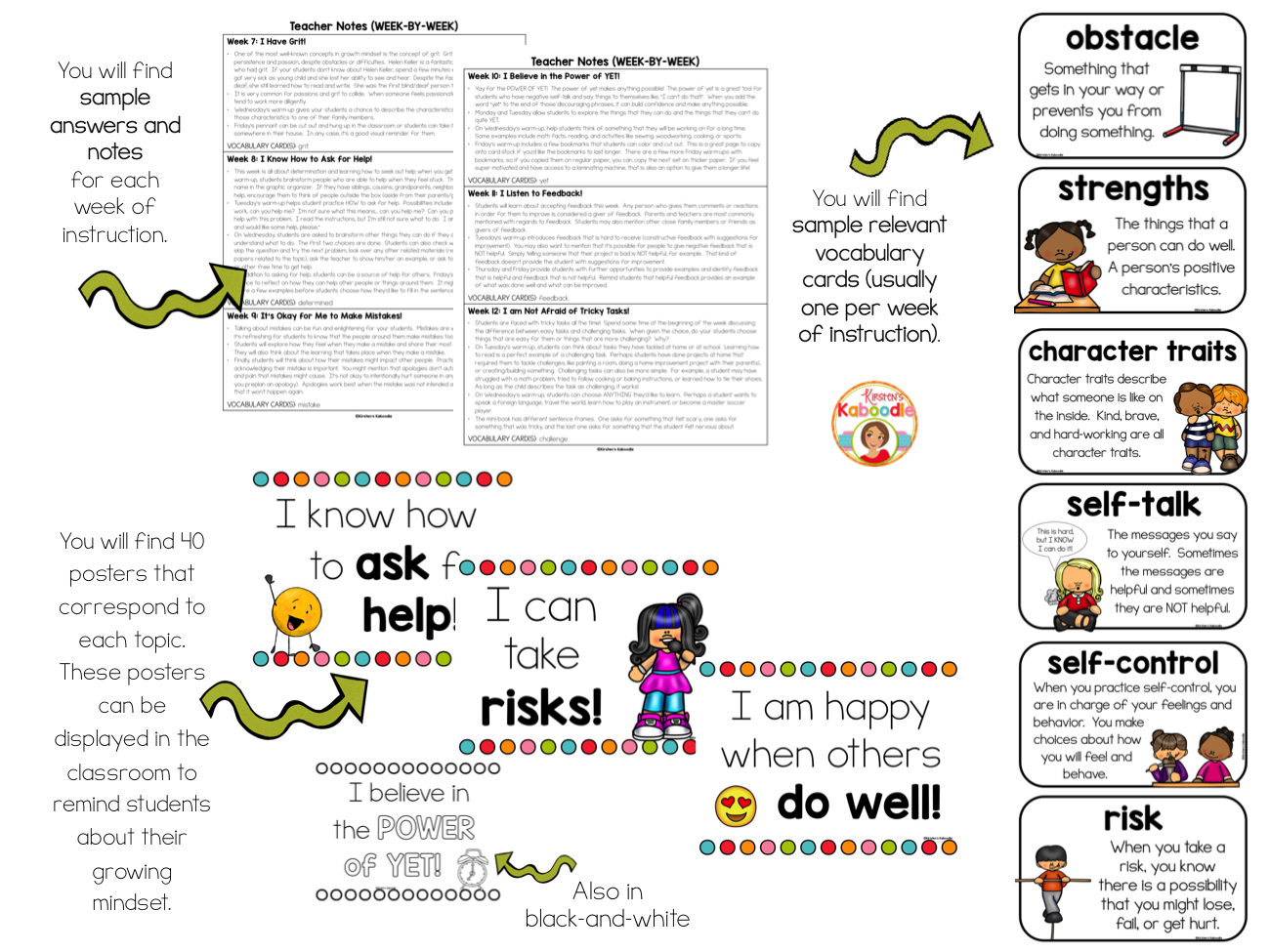 Growth Mindset Activities for Kindergarten and 1st Grade