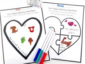 Your Happy Heart by Amie Dean Free Printable Worksheet Activity