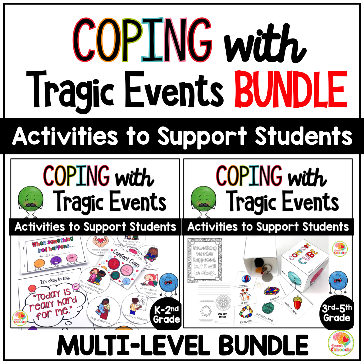 Coping with Tragic Events: Activities to Support Students BUNDLE