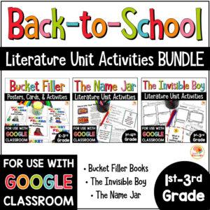 Back to School Literature Unit BUNDLE COVER