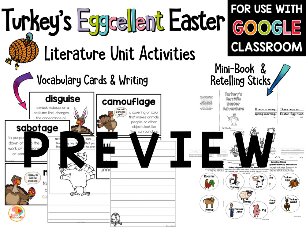 Turkey's Eggcellent Easter Activities PREVIEW