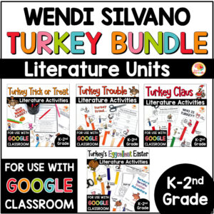Wendi Silvano Bundle Activities for Turkey Trouble, Claus, Trick or Treat, and Eggcellent Easter COVER