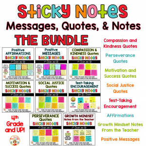 Sticky Notes Messages for Students