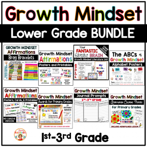 Growth Mindset Activities for Lower Grades BUNDLE