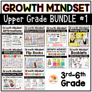 Growth Mindset BUNDLE #1 for Upper Grades COVER