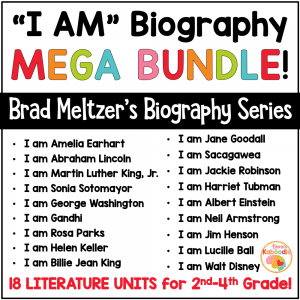 Brad Meltzer Literature Unit BUNDLE COVER