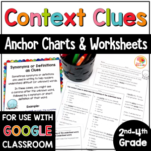 Context Clues Printables Worksheets for 2-4 COVER