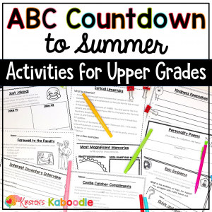 Alphabet Countdown to Summer