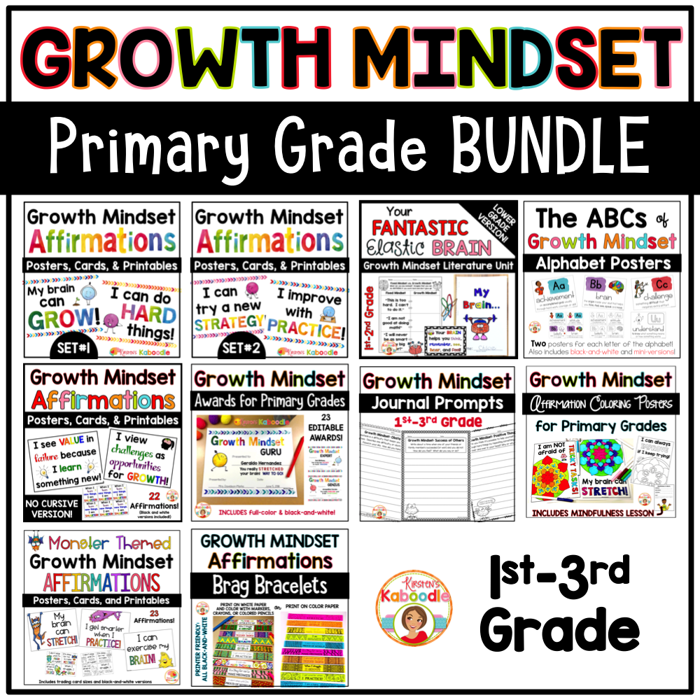 Growth Mindset Primary BUNDLE COVER