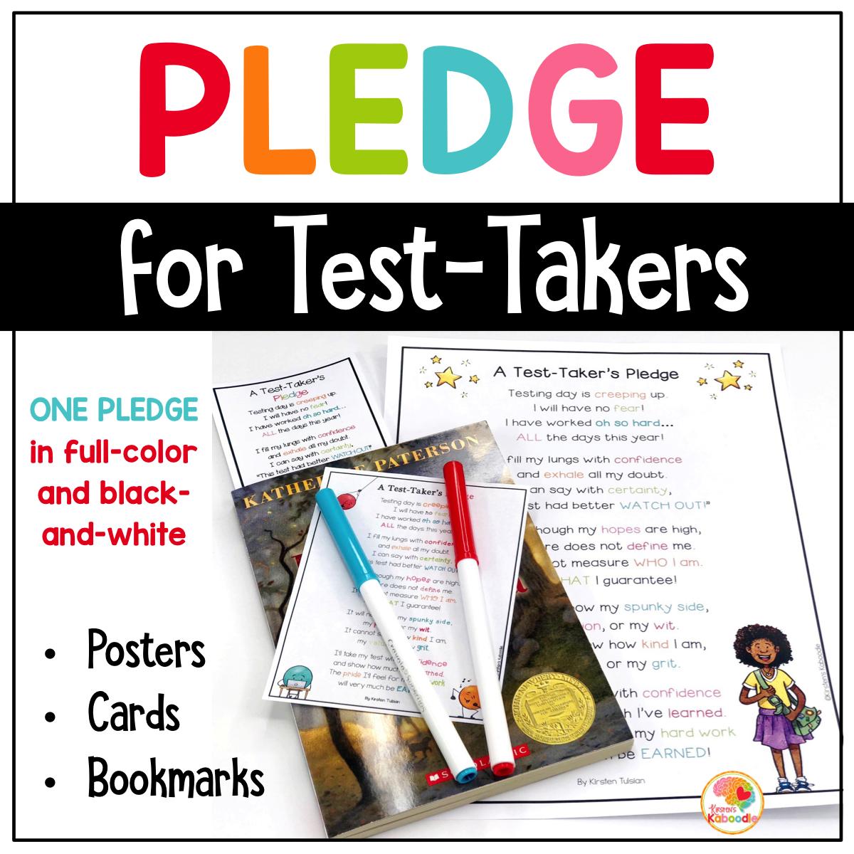 Test Taking Encouragement Pledge