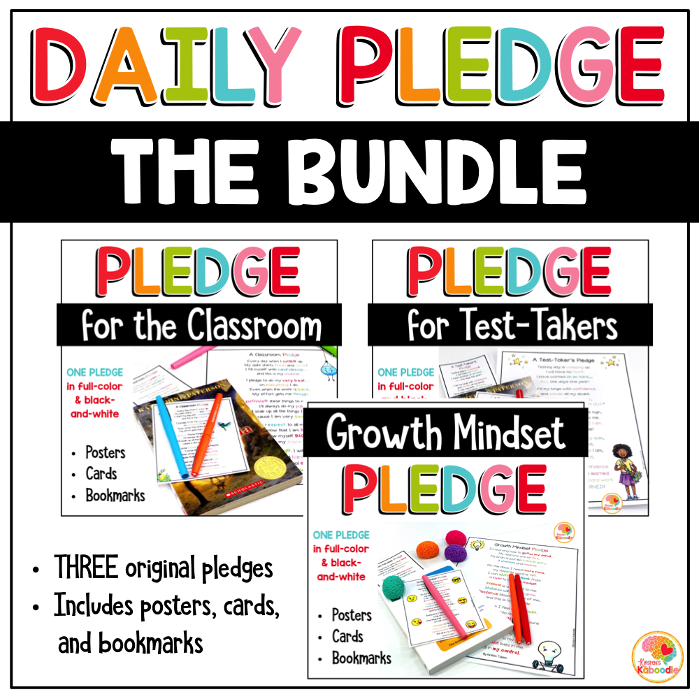 Classroom Pledge BUNDLE COVER