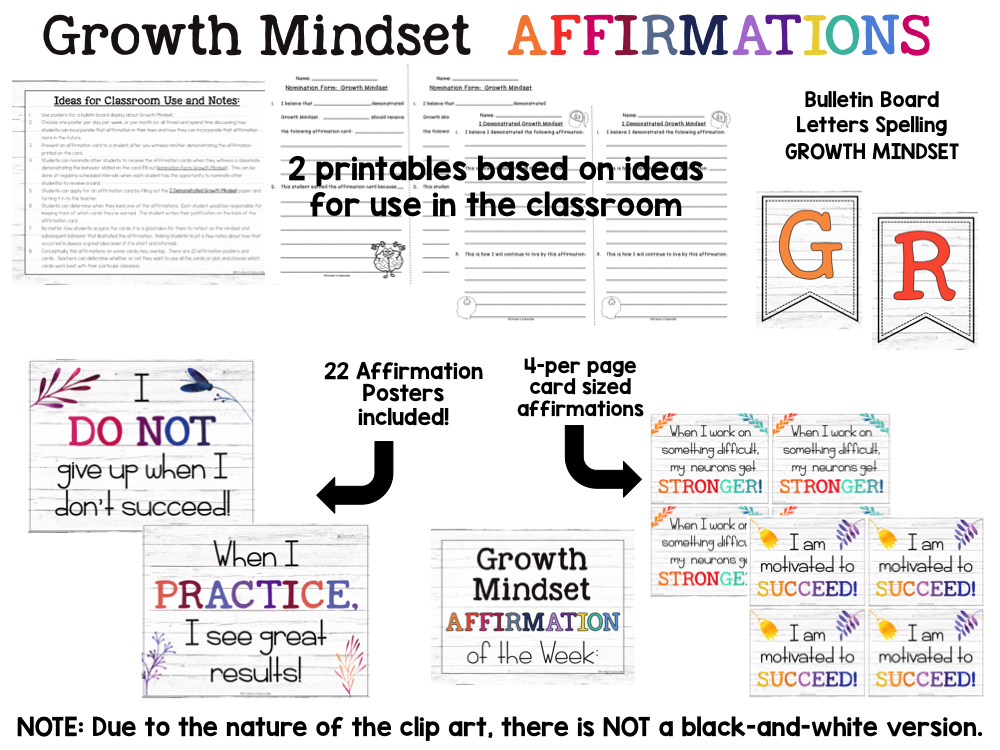 Growth Mindset Farmhouse Posters Preview