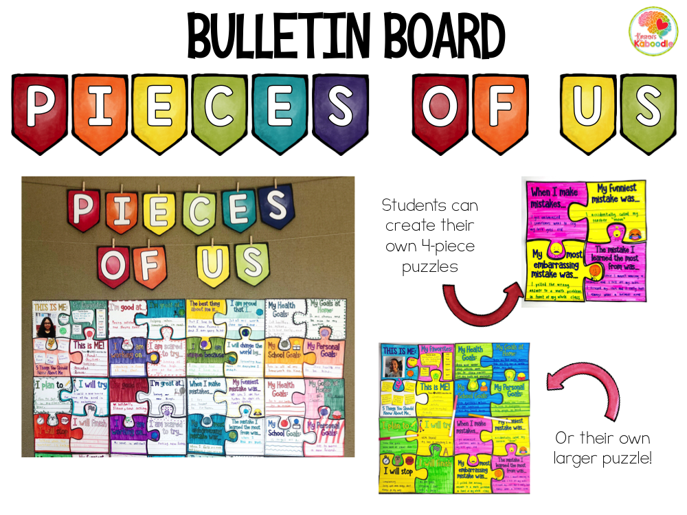 Back to School Bulletin Board Community Building PREVIEW