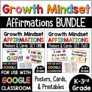 Growth Mindset Primary Affirmations Posters BUNDLE COVER