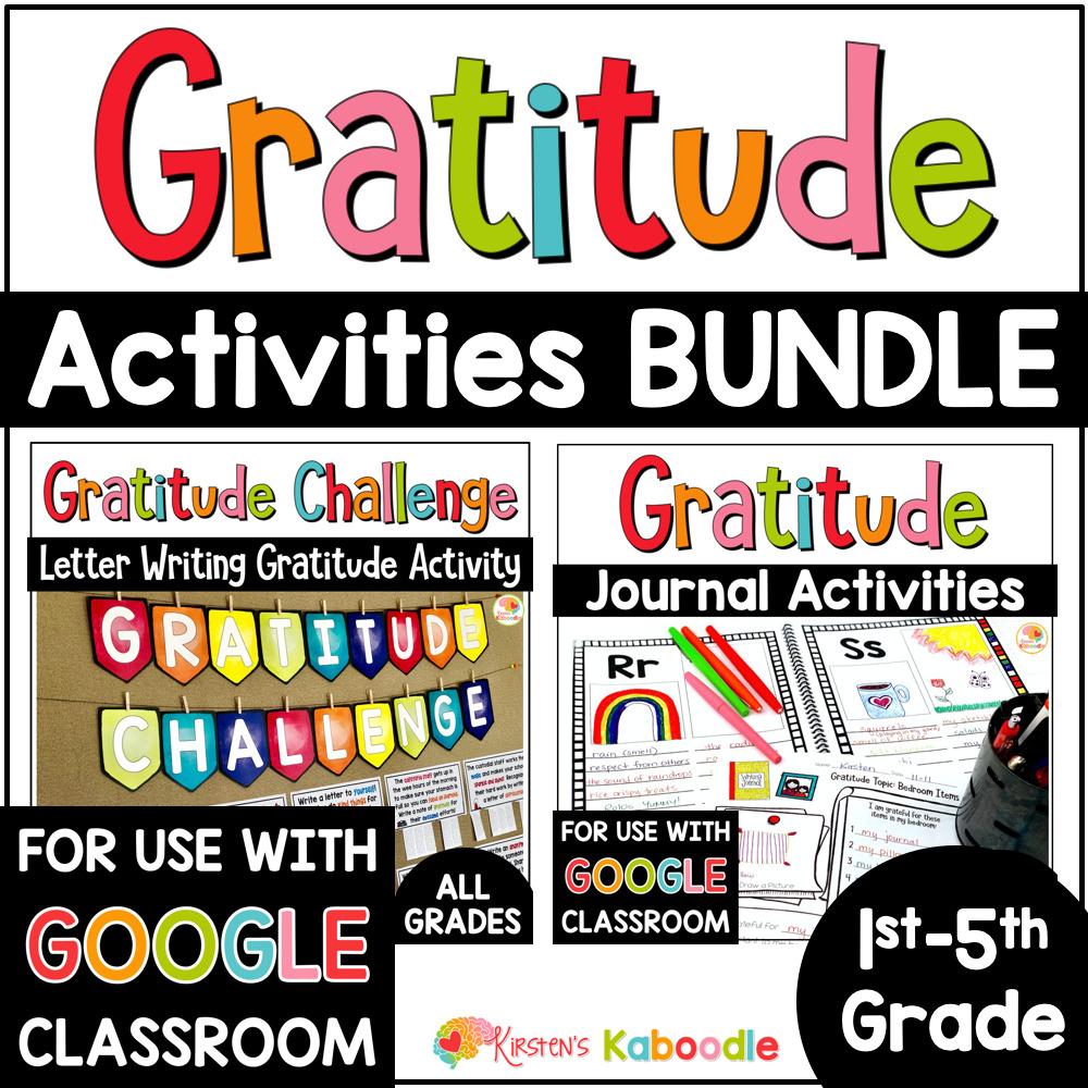 Gratitude Activities: Journal and Challenge BUNDLE COVER