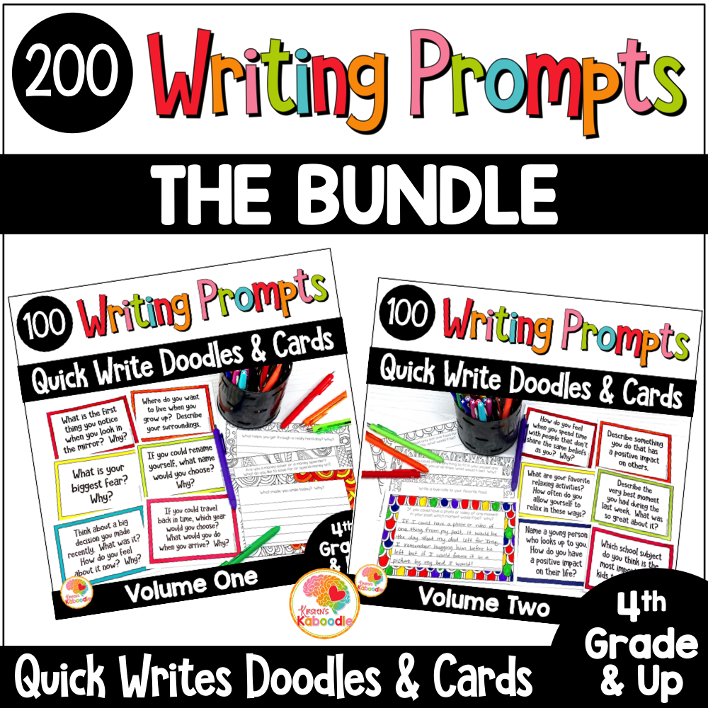 Mindful Reflections Quick Writes BUNDLE COVER