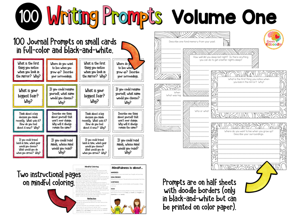 Quick Writes Writing Prompts Volume One Preview