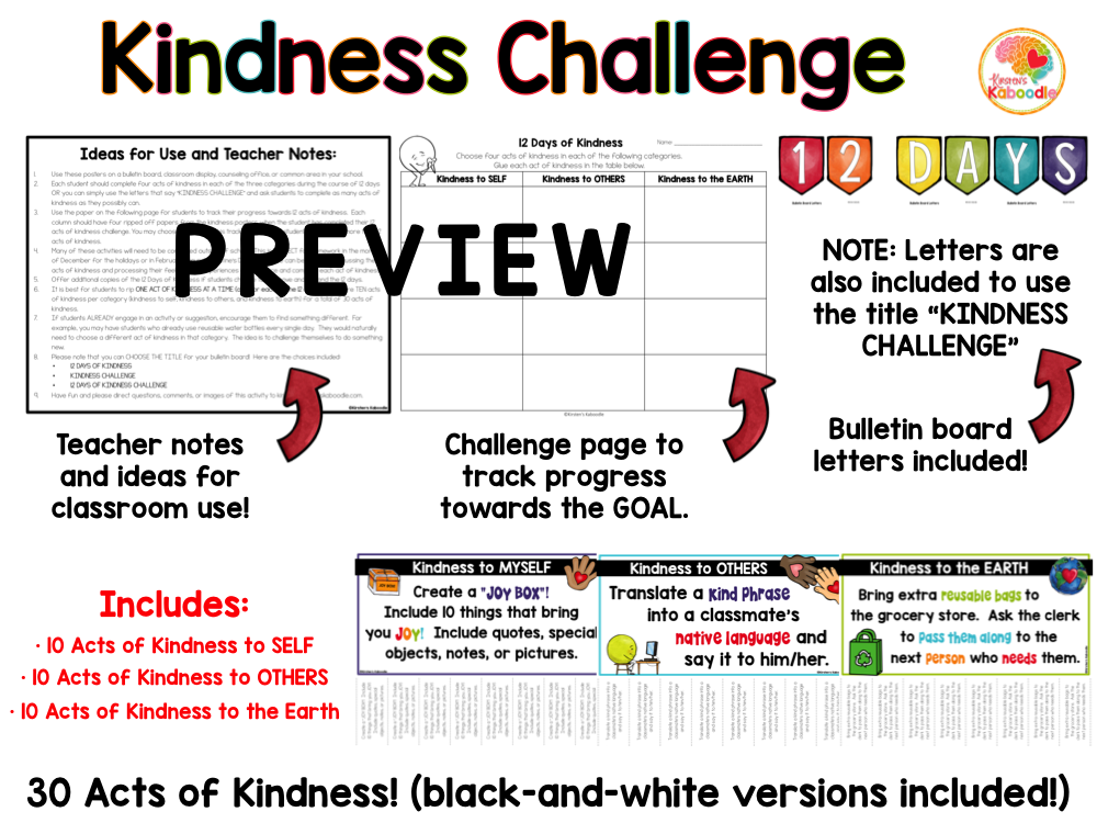 12 Days of Kindness Challenge