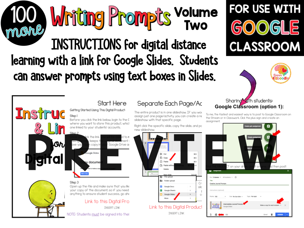 Quick Write Journal Prompts Volume Two PREVIEW